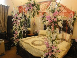suhag rat bed room decoration
