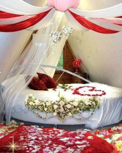 bridal bed room decoration