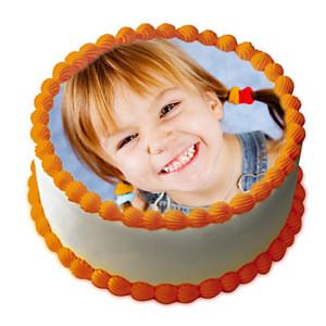 Butterscotch Photo Cake