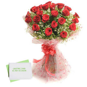 Red Roses N Greeting Card