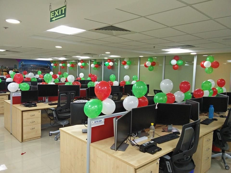 Air balloon florist chain for 15th august independence day decoration ideas