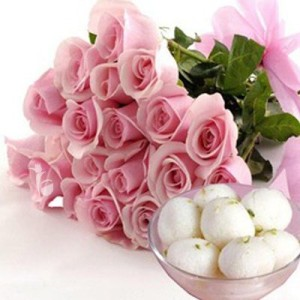 rasgula Sweet and flower