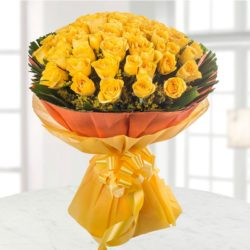 50 yellow rose flower bunch Sunrise Special